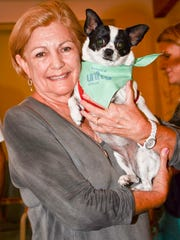 Rebecca Broadhurst brought Abby to the pet blessing.