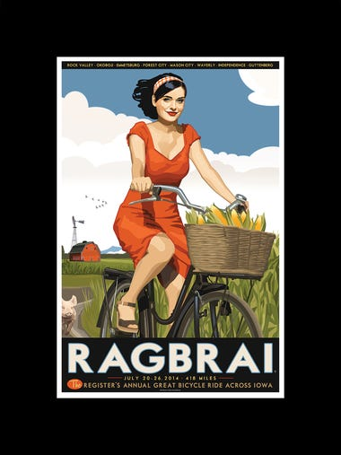The 2014 RAGBRAI poster designed by Register illustrator