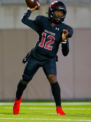 Weiss quarterback Dior Bradfield completed 15-of-23 passes for 355 yards and five touchdowns in the Wolves' win over Leander last week.