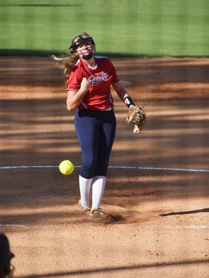 Effingham County sophomore pitcher Rylee Mills threw a seven-inning no-hitter in a 6-0 victory over Brunswick on Aug. 27.