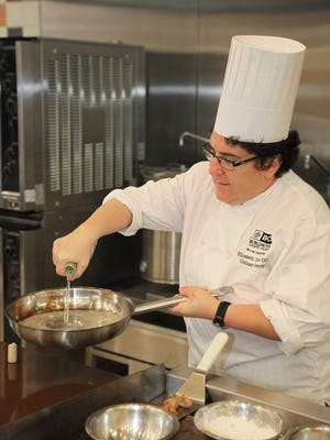 It sounds hard, but chef Elizabeth Dinice of Burlington County College Culinary Arts Center makes beurre blanc look easy.