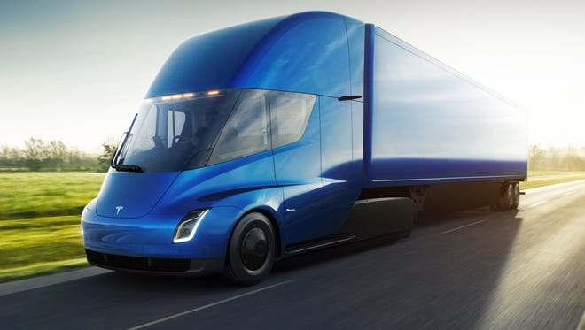 The Tesla Semi big rig truck