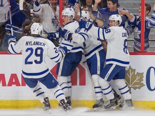 Oct 12, 2016: Toronto Maple Leafs ccenter Auston Matthews
