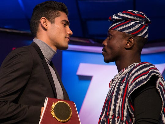 Boxers Gilberto Ramirez and Habib Ahmed in the upcoming