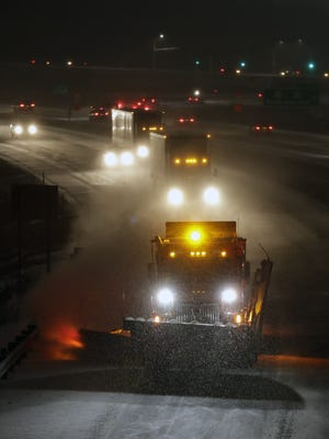 Snowplows are expected to get a heavy workout as a winter storm arrives in central and northeast Wisconsin.
