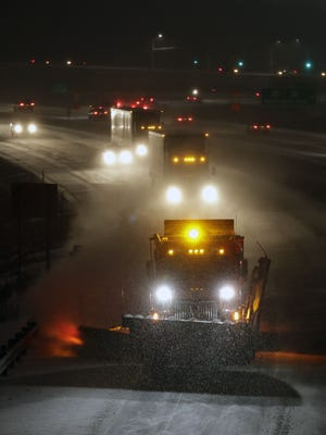 The National Weather Service says a winter storm warning is in effect in North Dakota, much of north central Minnesota and northern Wisconsin.