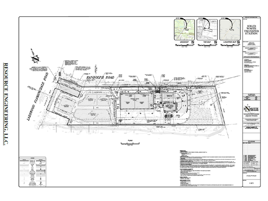 This is the site map for the proposed solid waste transfer