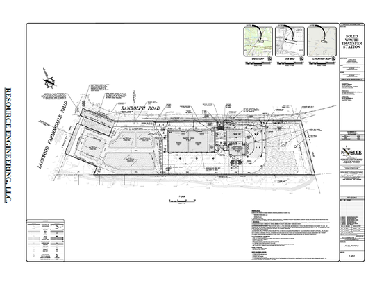 This is the site map for the proposed solid waste transfer station in Howell