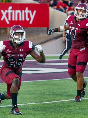 New Mexico State's Shamad Lomax was named Sun Belt Conference Defensive Player of the Week on Monday.