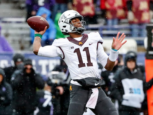 NCAA Football: Minnesota at Northwestern