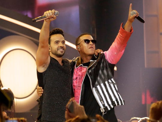 Song of the year: 'Despacito,' which was recorded by Luis Fonsi, Daddy Yankee and featured artist Justin Bieber, is up for the year's top songwriting award. Both Fonsi and Daddy Yankee (using his given name, Ramón Ayala) earned songwriting credits.