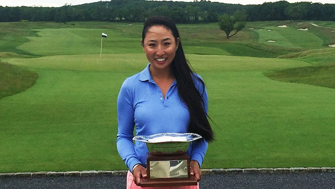 Ina Kim shot a 1-over 73 to win the Women's Met Amateur Championship at Atlantic Golf Club.