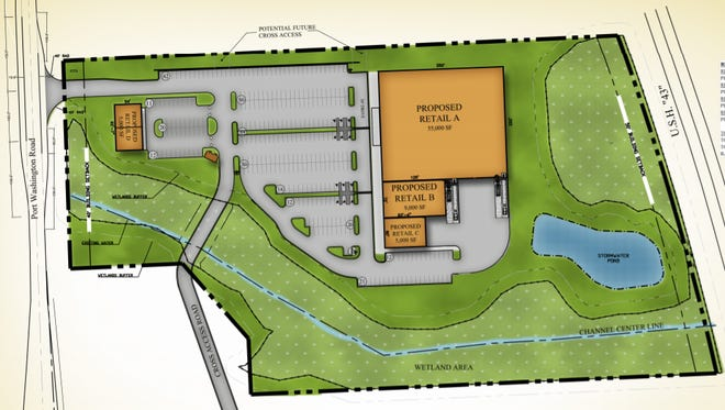 Continental Properties is planning to expand Grafton Commons shopping center to the north, providing four retail spaces ranging from 5,000 square feet to 55,000 square feet.