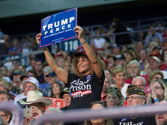 The crowd during a Trump Rally at the Pensacola Bay Center on Friday, September 9, 2016.