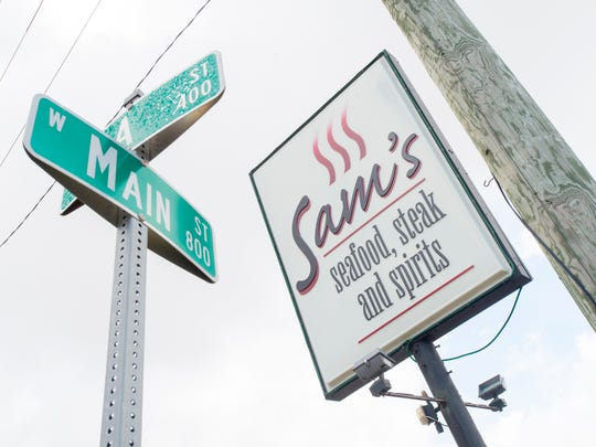Sam's Seafood & Steaks at the corner of West Main and A streets closed its doors this summer after the owner retired.