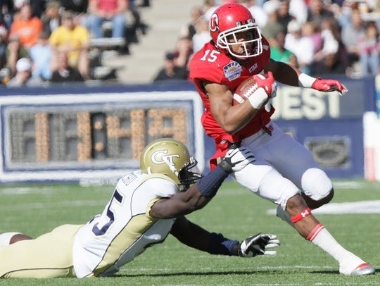 Utah running back John White IV jets past Georgia Tech's