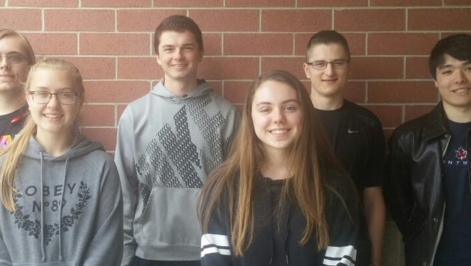 Badger Boys and Girls State delegates have been named at Two Rivers High School. Pictured are, back row, from left: Ian Klein, Kelvin Veldre, Bryce Laurin and Ambrose Wiering; and front row, from left: Heather Hastreiter and Leah Klansky.
