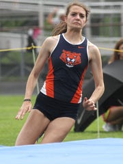 Galion's Marisa Gwinner cleared 5-6 in the high jump for runner-up honors in Thursday's Division II regional track meet at Lexington High School.