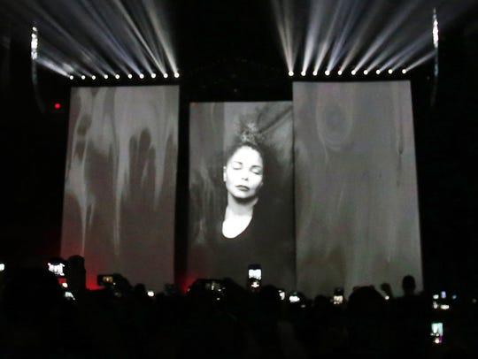 Janet Jackson performs at talking Stick Resort Arena