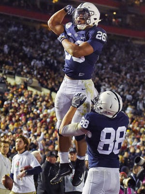 The promising Nittany Lions  return arguably the nation's top tailback in Saquon Barkley (26) and the Big Ten's top tight end in Mike Gesicki (88). But will they be better overall in 2017?