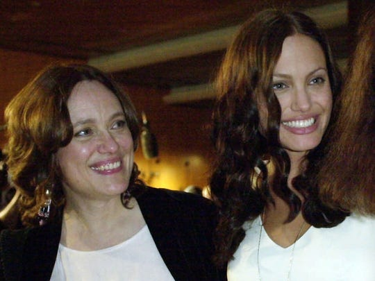 Angelina Jolie and her mother, Marcheline Bertrand,