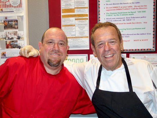 Nicolino's owner Mark Carnevale (R) with Nic Carnevale