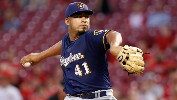 Junior Guerra helped stabilize the Brewers' starting