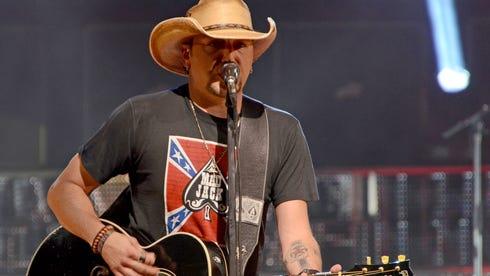 Jason Aldean performs at the Ak-Chin Pavilion in Phoenix on Thursday, Oct. 17. Cydney McFarland/The Arizona Republic