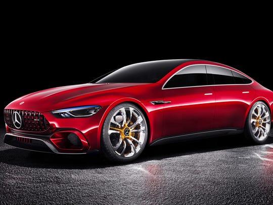 Mercedes-Benz AMG GT concept show car,