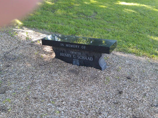 Memory stone for Henry C. Schaad (Jim McClure's blog)submitted