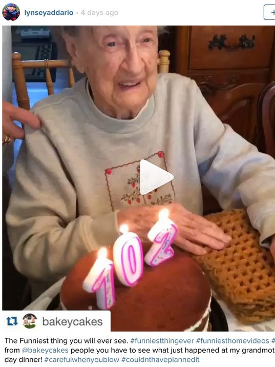 102-year-old woman was blowing out candles on her birthday cake when ...