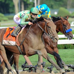 American Pharoah, with Victor Espinoza riding, won the $1,750,000 Haskell Invitational August. 2nd.