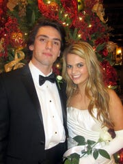 Trent Scull and Rachel Kimery were at Memphis Junior Cotillion.