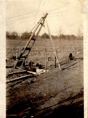 A tripod winch erected over a well was designed to