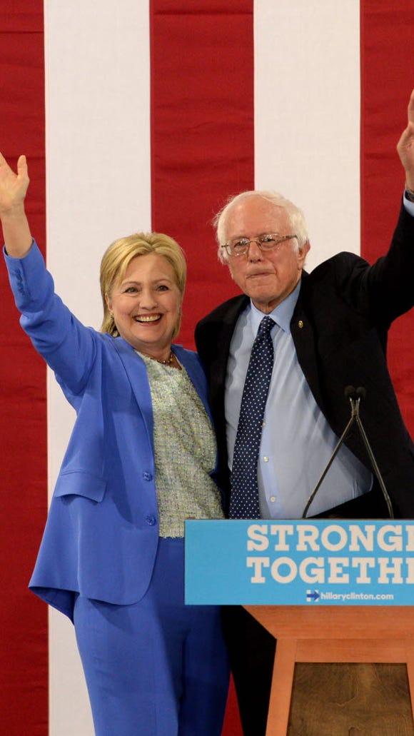 Sen. Bernie Sanders and presumptive Democratic presidential