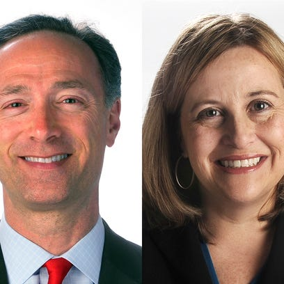 David Fox and Megan Barry