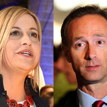 Nashville mayoral runoff candidates Megan Barry and