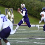 Northwestern State quarterback Stephen Rivers looks to throw a pass against Stephen F. Austin.