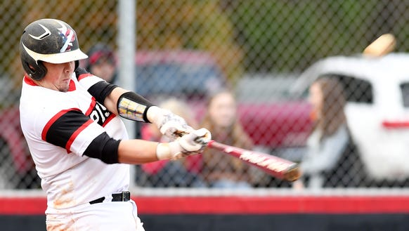 Pisgah's Zach Scott hits a grand slam in the game against