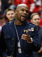 Floyd Mayweather Jr. batting down the notion that Conor McGregor wouldn't stand a chance in a fight with Mayweather.