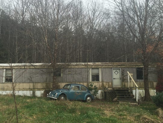 Robert Lewis Dear lived in this mobile home in Swannanoa,