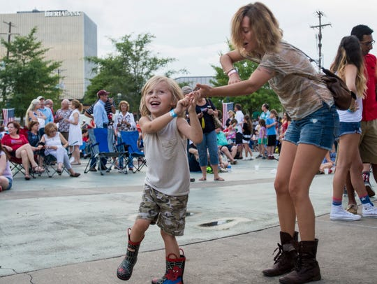 Lafayette citizens celebrate Independence day during