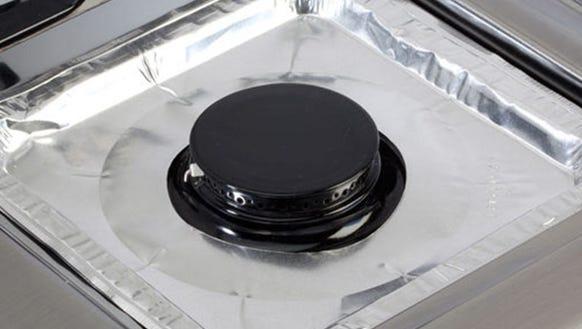 Aluminum stovetop burner covers
