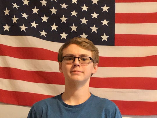 Brayden Harder organized a counter-protest that advocates for the Second Amendment at Timberline School in Waukee.