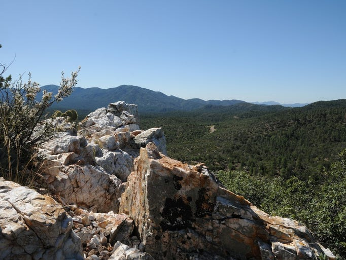 There are vast views from the summit of Quartz Mountain