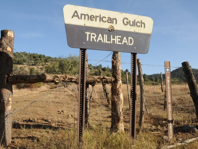 The American Gulch South trailhead is on Doll Baby