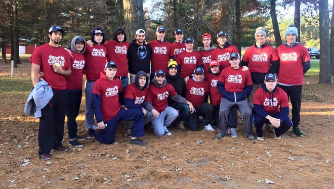 The Wisconsin Rapids Riverkings hockey team was one of 25 groups to participate in the 2016 Day of Caring event on Oct. 22.