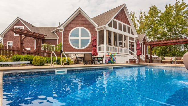The large pool provides hours of backyard entertainment.