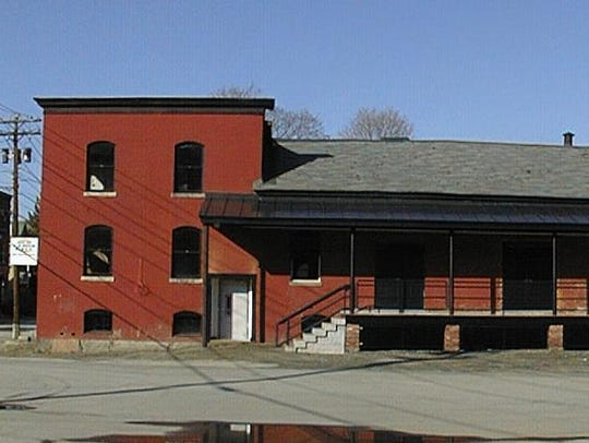 Side view of the Old Labor Hall on Granite Street in