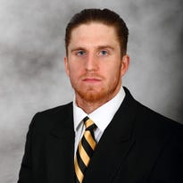 Wake Forest head shot of Mike Weaver from April of 2015.